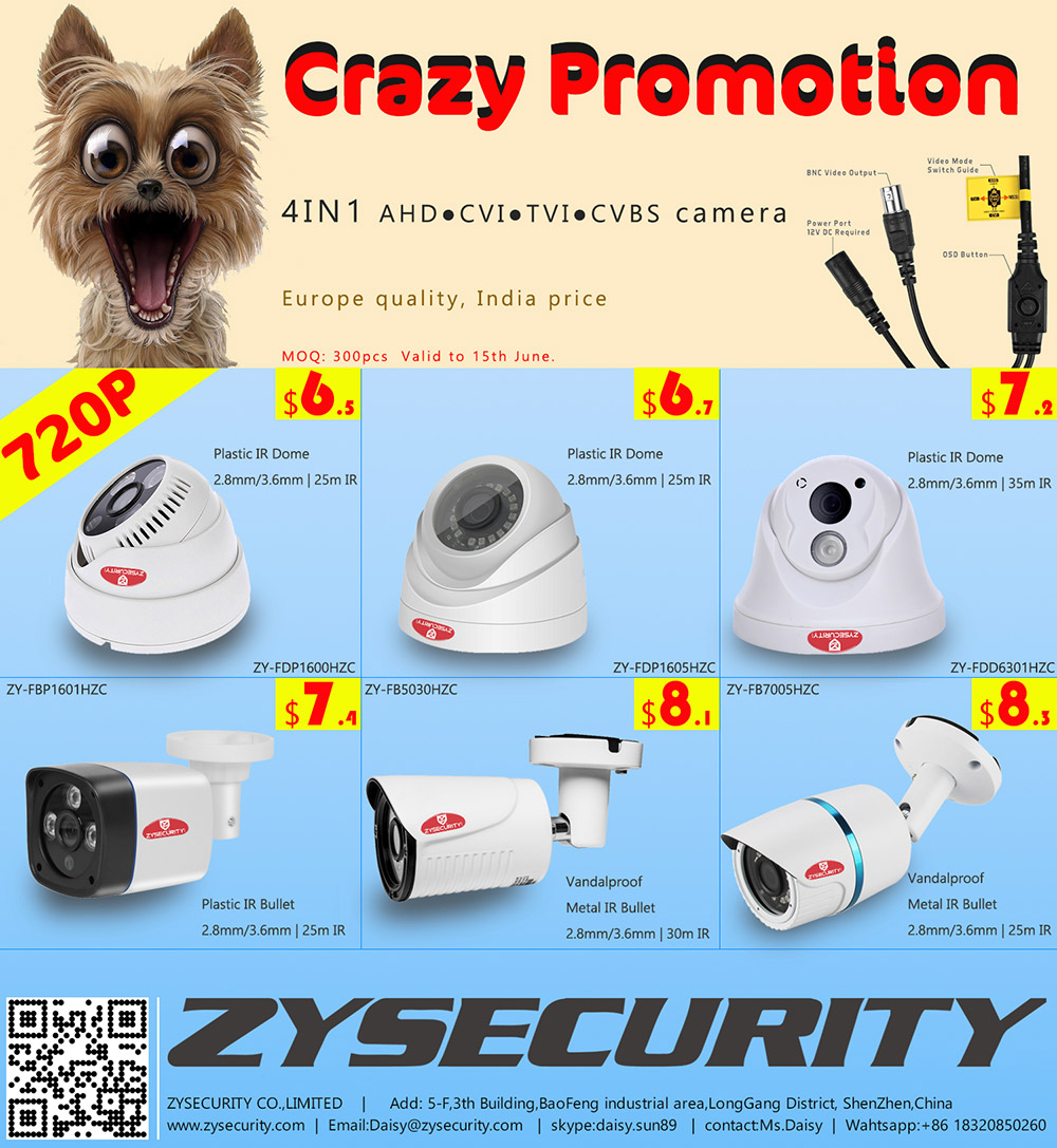 1MP 720P 4IN1 camera Super promotion