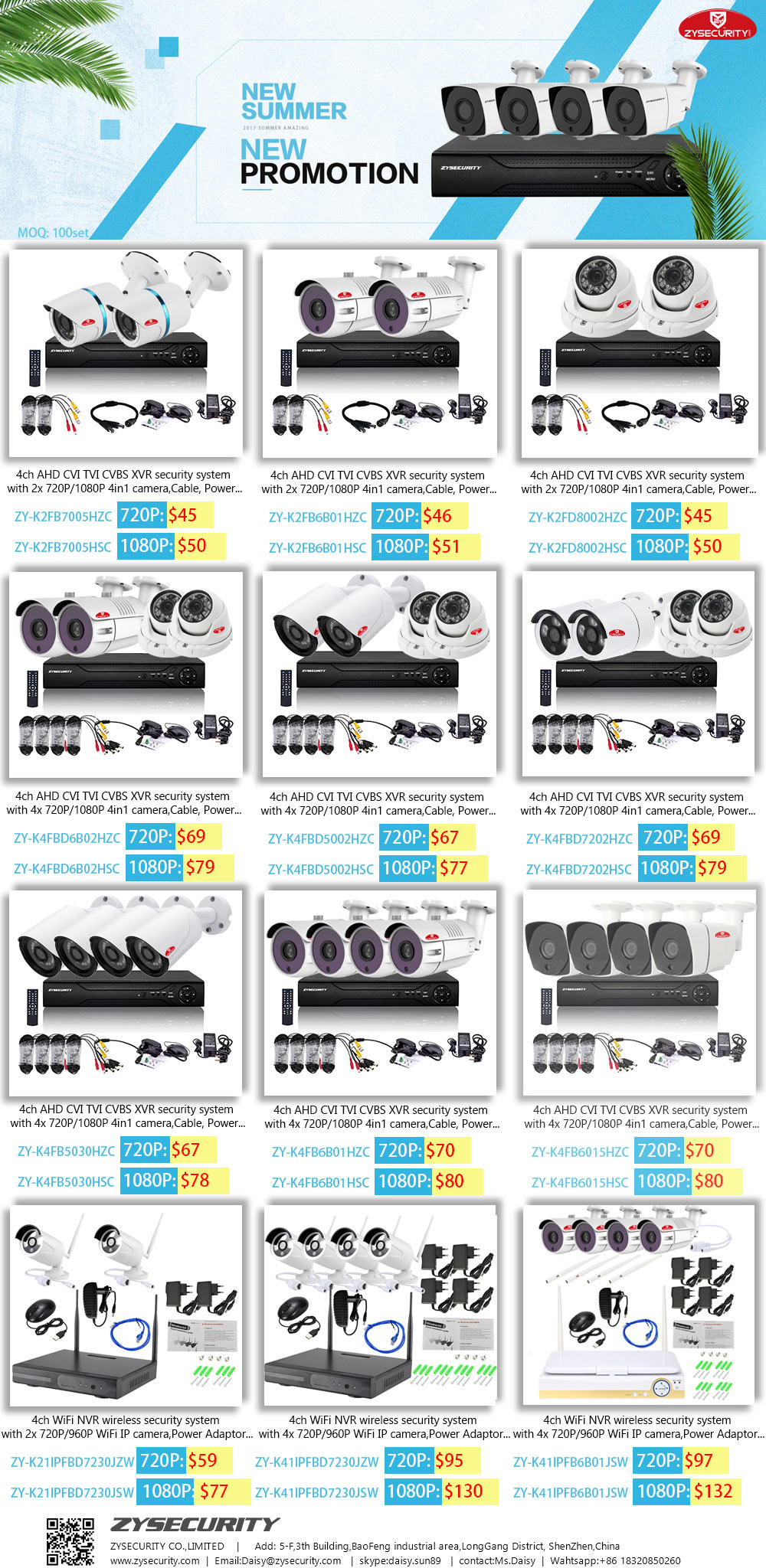 CCTV KIT camera DVR KIT promotion